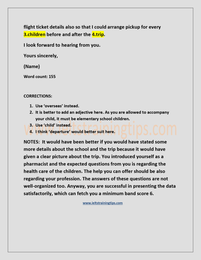 Formal Letter Letter To The School Authority Regarding A 3 Day Trip Inquiry Ielts Training Tips Ielts Training Ernakulam Kerala India